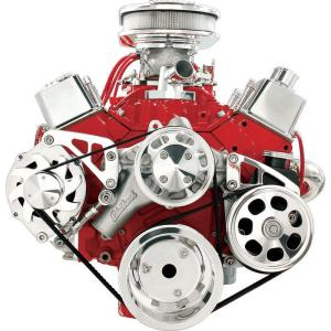 Billet Specialties Mid Mount Serpentine Conversion Kit - Small Block Chevy