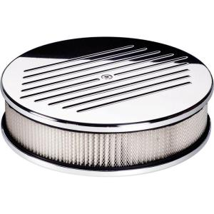 "Billet Specialties 10"" Round Air Cleaner - Ball Milled"