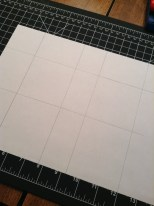Laying out my 2 3/4 in squares using my new cutting mat.