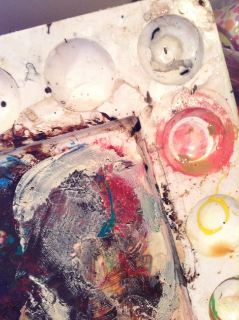 An artist's palette is never truly clean--at least for this artist anyway.