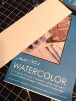 I'm using 4x6in Master Touch cold press watercolor paper cut in half for 2x6in bookmarks.