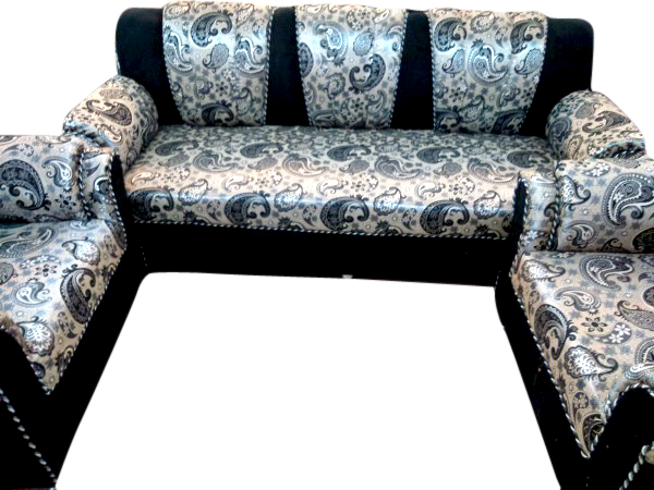 ButterFly 5 Seater Sofa Set Black Silver  Dream Furniture