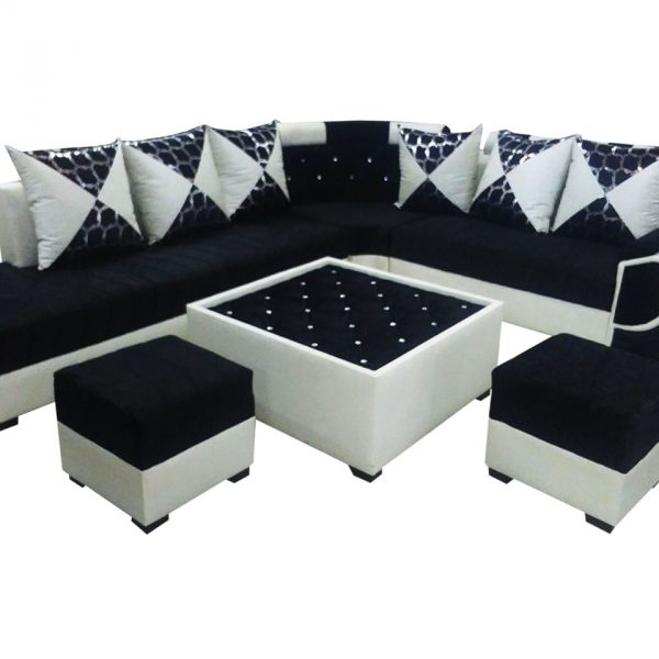 Felicite L Shape Sofa SetCenter Table And 2 Puffy  Dream