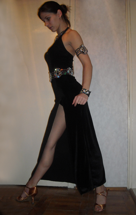M077 Black Latin Dance Dress for sale  Dreamgown