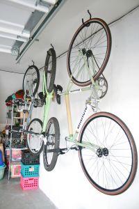 Hang bikes in the garage - Check! - Dream Green DIY