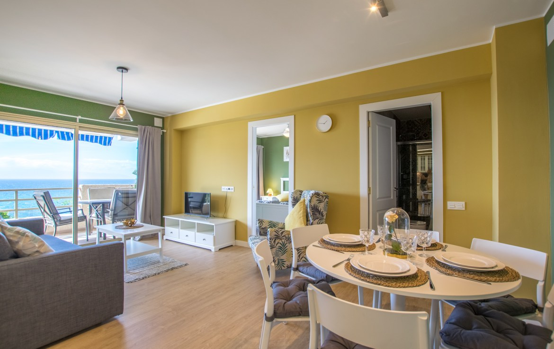 For Holiday Rent Two Bedroom Apartment in Puerto de Santiago Living Room Estate Dream Homes Tenerife