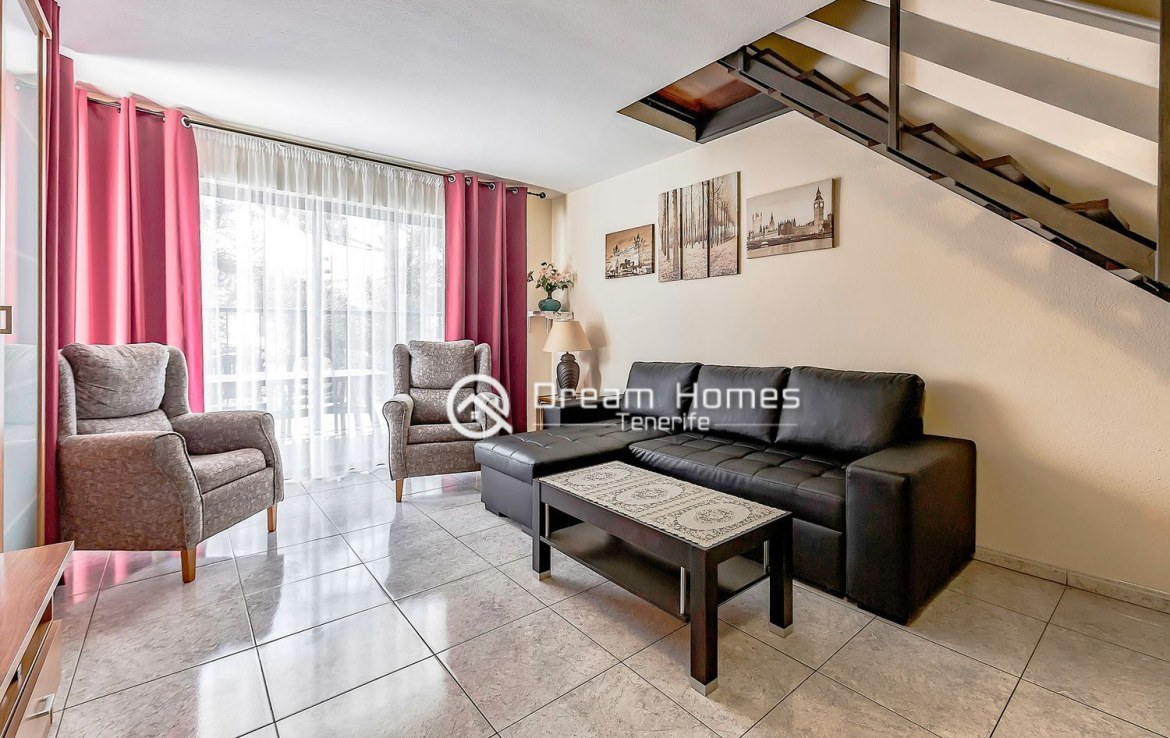 Great Two Bedroom Apartment for sale in Los Cristianos Living Room Real Estate Dream Homes Tenerife