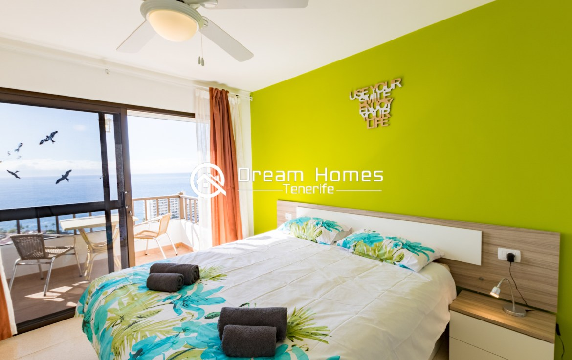 Fantastic Oceanview Penthouse For Rent in Los Gigantes Bedroom Real Estate Dream Homes Tenerife
