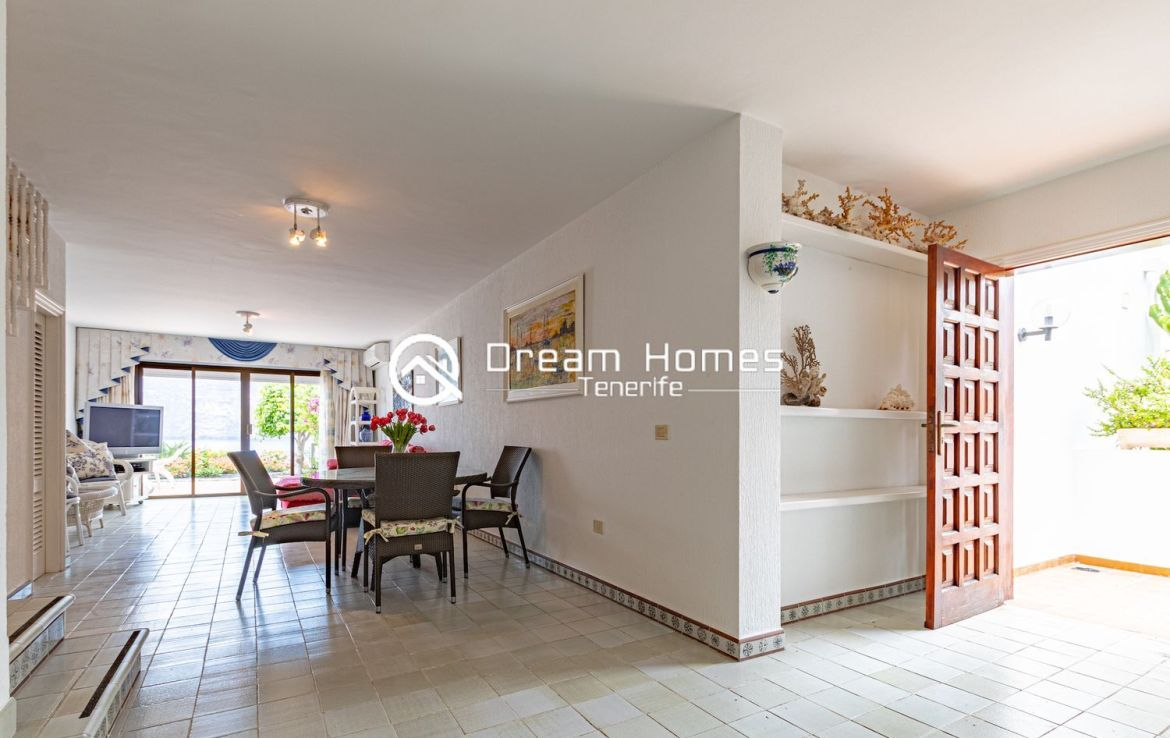 Fantastic Duplex in Front of the Ocean Dining Area Real Estate Dream Homes Tenerife