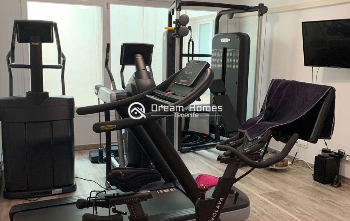 Independent Villa For Sale in Costa Adeje Workout Room Real Estate Dream Homes Tenerife