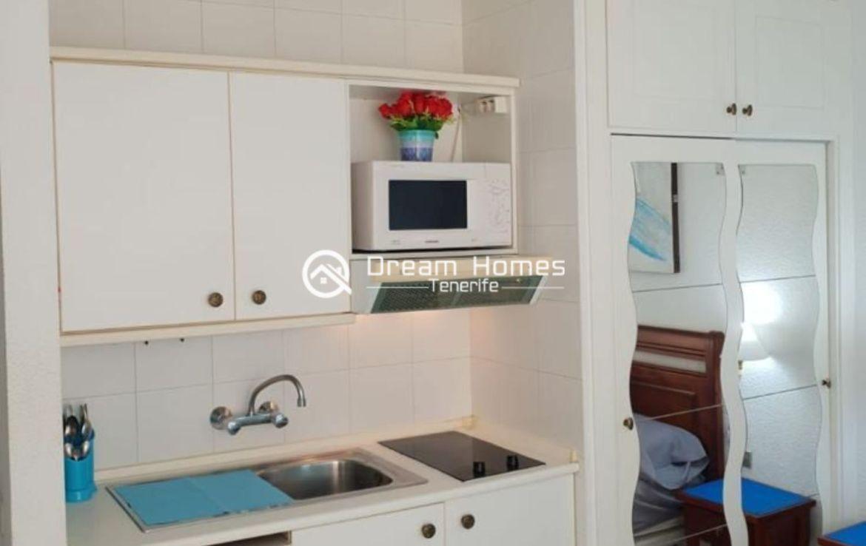 Lovely Studio in Ponderosa Complex in Costa Adeje Kitchen Real Estate Dream Homes Tenerife