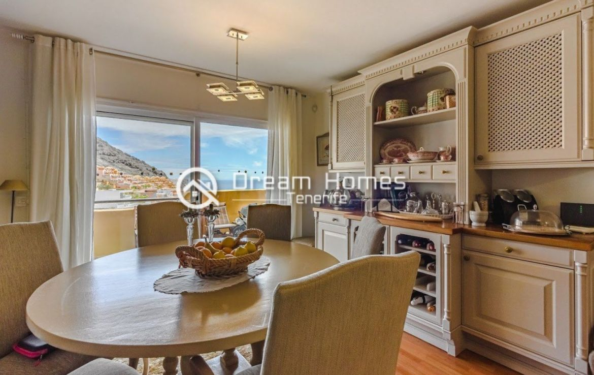 Spectacular View Penthouse in Roque del Conde Dining Area Real Estate Dream Homes Tenerife