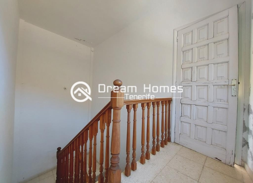 Canarian Style House with 2 Commercial Units in Santiago del Teide Stairwell Real Estate Dream Homes Tenerife