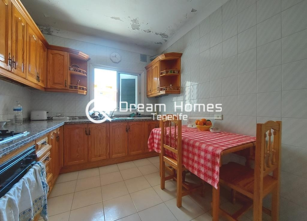 Canarian Style House with 2 Commercial Units in Santiago del Teide Kitchen Real Estate Dream Homes Tenerife
