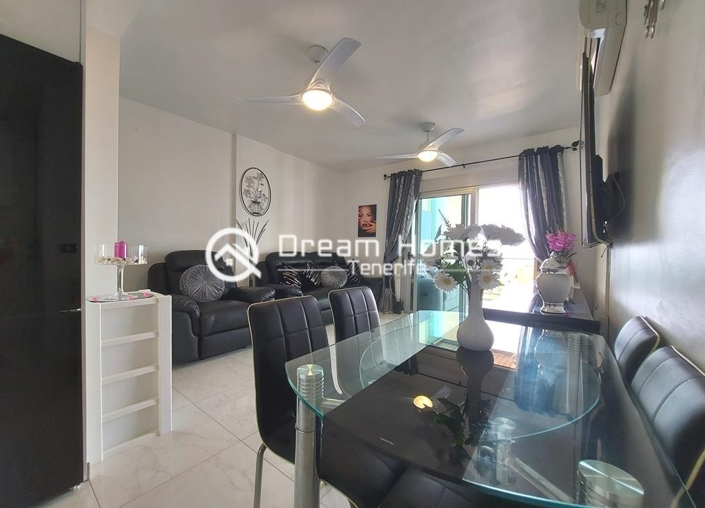 Fully Furnished Two Bedroom Apartment in Golf del Sur Dining Area Real Estate Dream Homes Tenerife