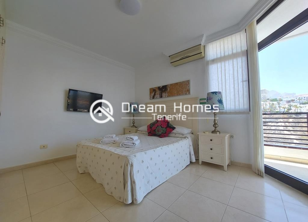 Spectacular Three Bedroom Townhouse with Oceanview and Pool Bedroom Real Estate Dream Homes Tenerife