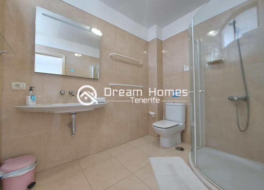 Spectacular Three Bedroom Townhouse with Oceanview and Pool Bathroom Real Estate Dream Homes Tenerife