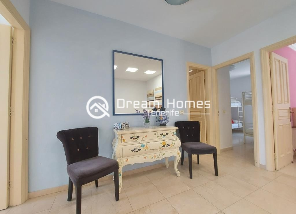 Spectacular Three Bedroom Townhouse with Oceanview and Pool Living Room Real Estate Dream Homes Tenerife