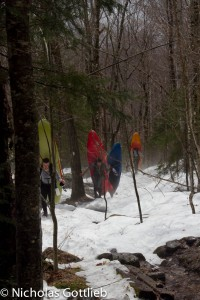 Postholing with a loaded creekboat on your back is my idea of fun.