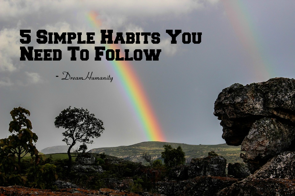 5 Simple Habits You Need To Follow -DreamHumanity