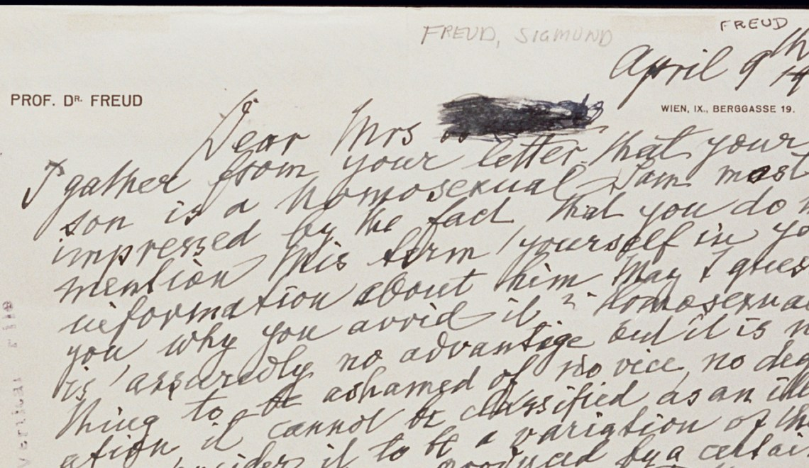 A Letter from Sigmund Freud To A Mother Of A Homosexual