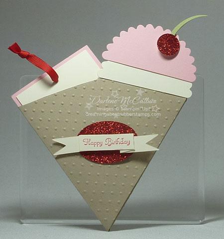 Petal Cone Bigz Die Birthday Card