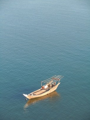 A fishing dhow
