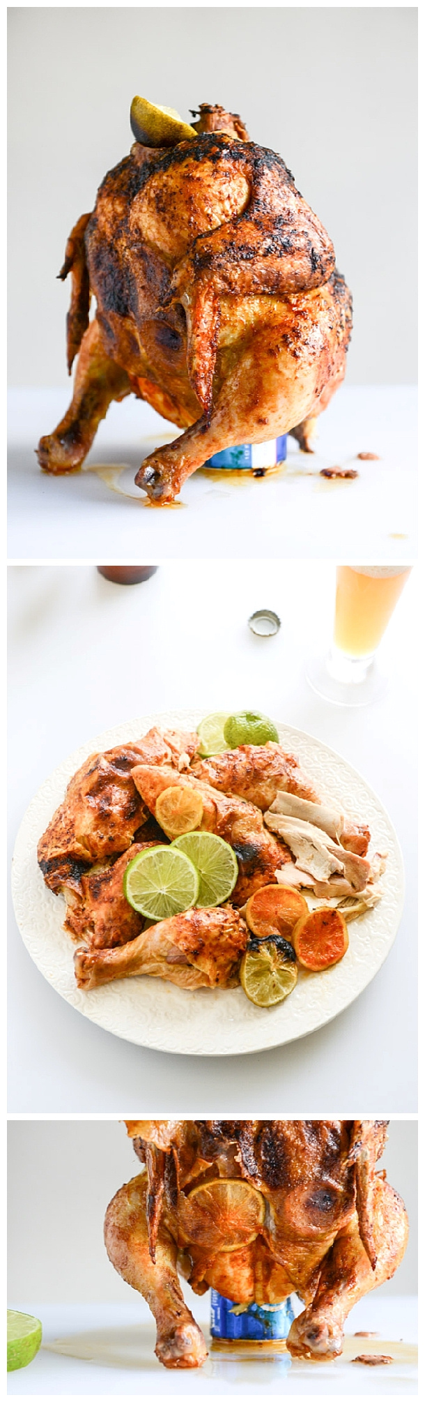 Chicken Recipes - Beer Butt Beer Can Chicken Recipe for the Oven or Grill via How Sweet Eats