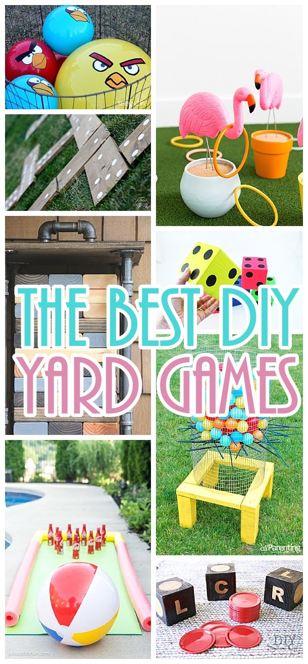 DIY Yard Games Projects - The BEST Do it Yourself outdoor games - Giant versions of the classics - perfect for cookouts - barbecues - potlucks and fun family backyard parties this Spring and Summer!