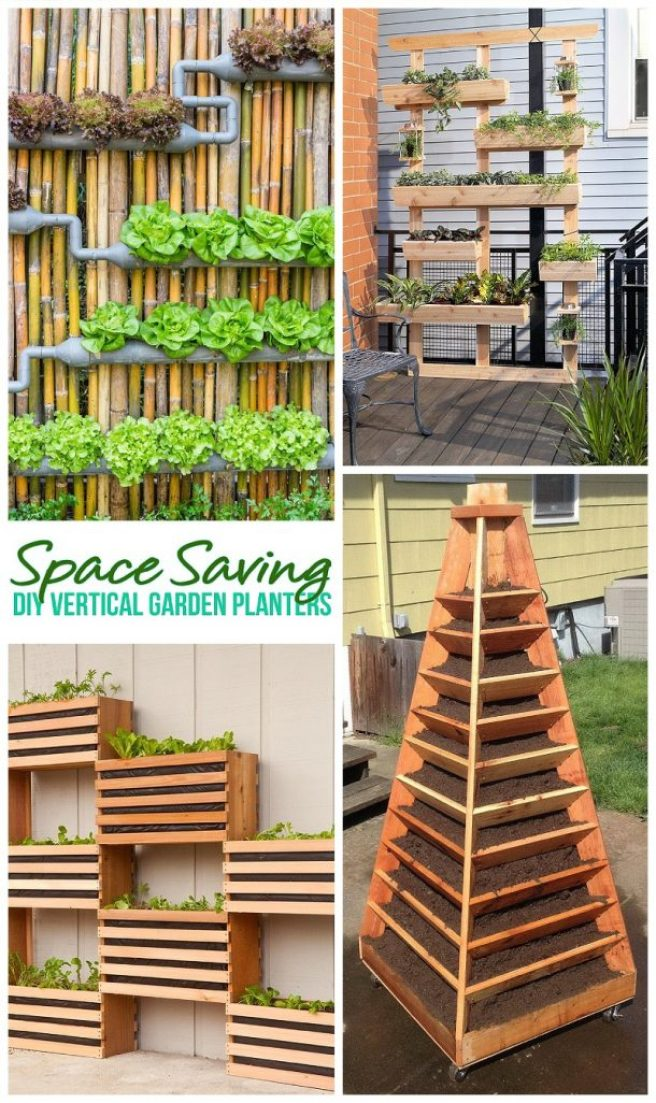 Dreaming in DIY - Space Saving DIY Tutorials to Create Pretty and Functional Vertical Garden Planters - DIY Projects