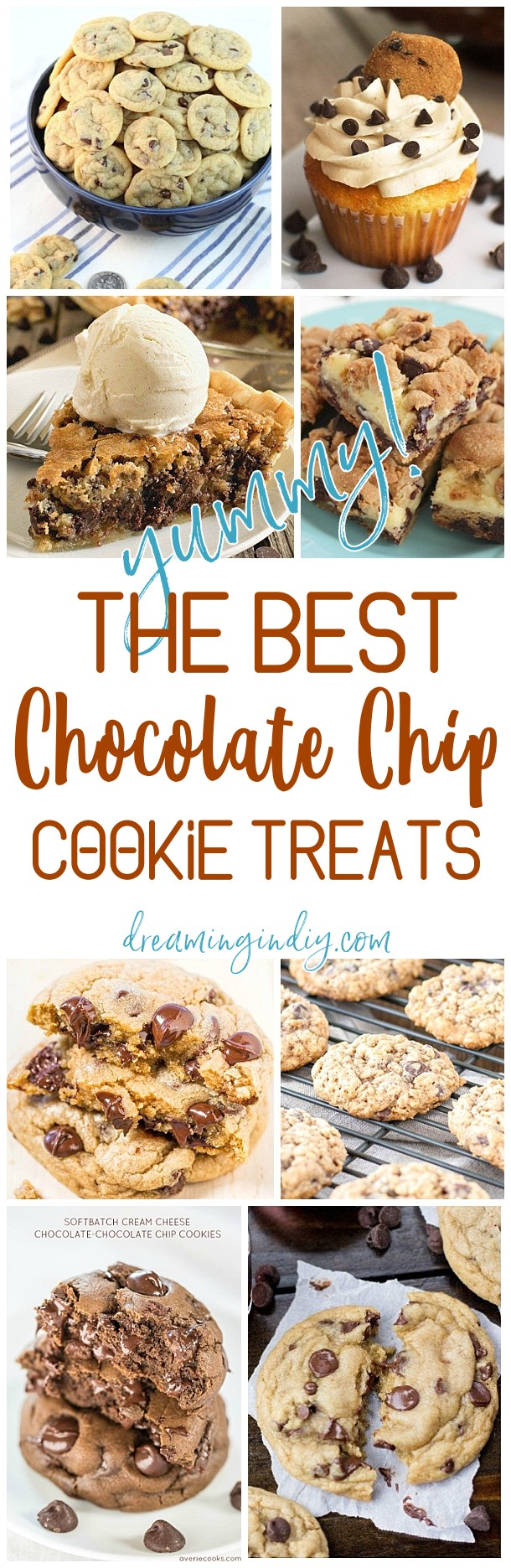 The BEST Chocolate Chip Cookies And Desserts Recipes - New recipes and the classics all in one place! Easy, Yummy, Simple and Quick - Favorite Sweet Treats for Birthday Parties, Father's Day or any day you want to feel like a special occasion! THIS is every Chocolate Chip Cookies Lover's Graceland. Dreaming in DIY