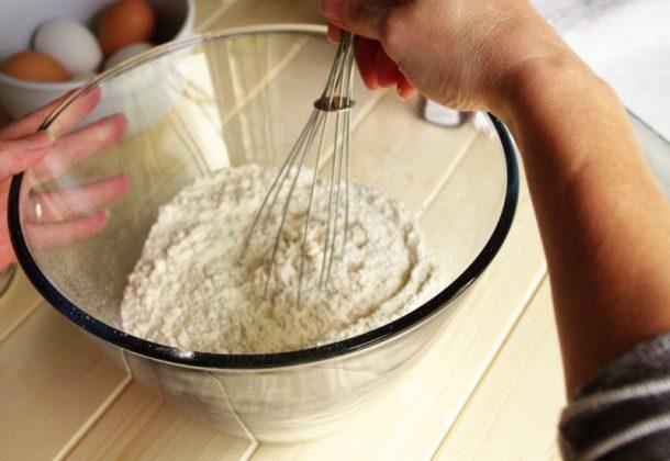 Prison Blondies Blonde Brownies Dessert Treat Recipe Sifting Dry Ingredients