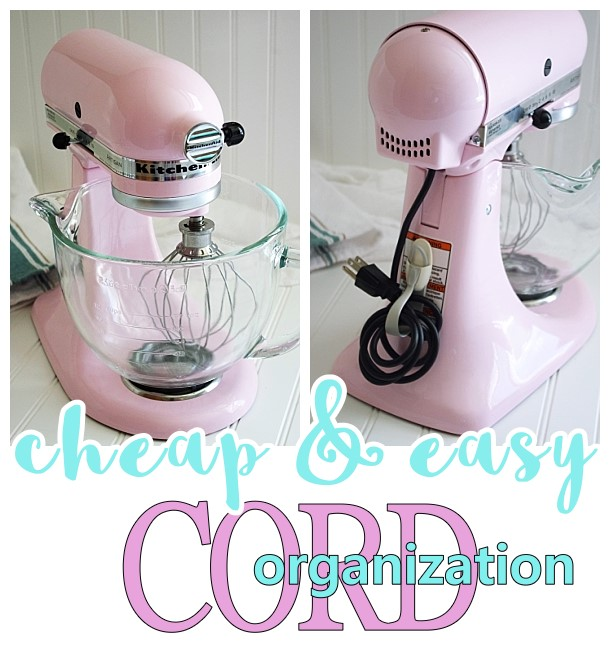 Kitchenaid Stand Mixer Recipes >> Small Kitchen Appliance and Power Tool Cord Organization Tip {Cheap and EASY!} – Dreaming in DIY