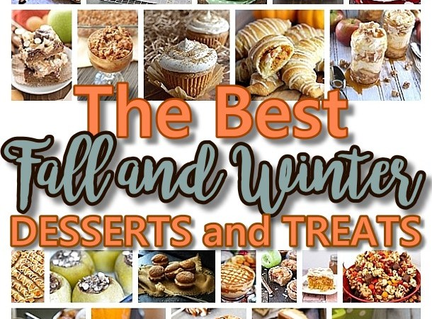 The BEST Fall and Winter Desserts & Treats Recipes - Apple, Cinnamon, Caramel and Pumpkin Holiday Treats via Dreaming in DIY