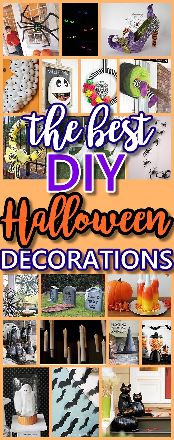 The BEST Do it Yourself Halloween Decorations {Spooktacular Halloween DIYs, Handmade Crafts and Projects!} via Dreaming in DIY