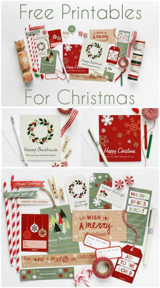 the best free christmas printables  gift tags holiday