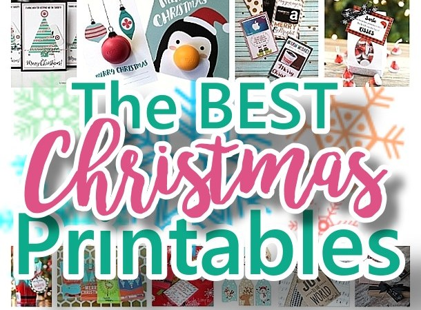 The BEST Christmas and Holiday FREE Printables - Gift Tags - Gift Card Holders - Christmas Greeting Cards and more FREE Downloadable Printables for the Holiday Seasons via Dreaming in DIY