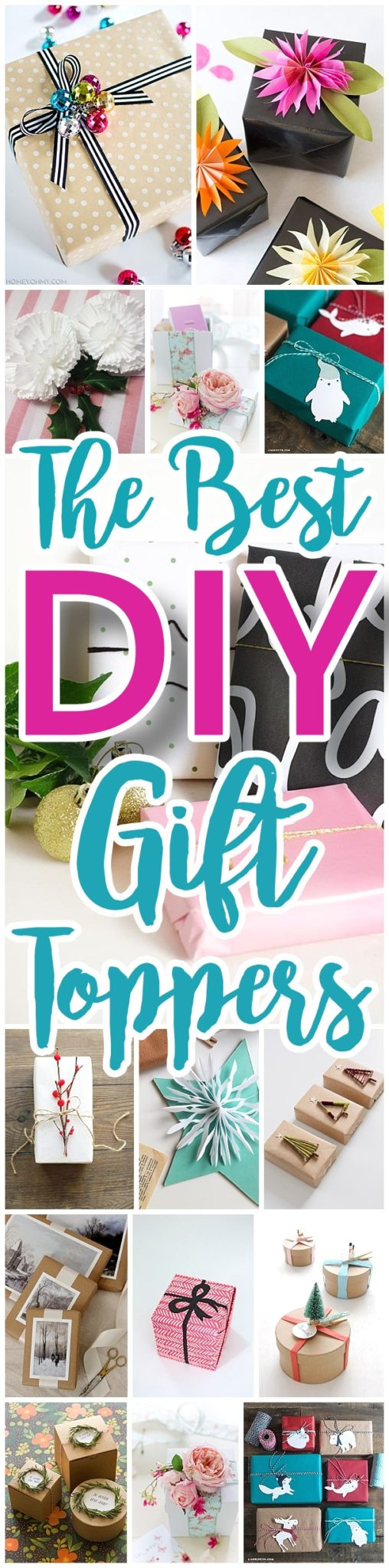 Do it Yourself Gift Toppers Tutorials - Fun, inexpensive and easy handmade ideas to wrap those gifts and give them a personal touch for Christmas Birthdays Holidays and more!