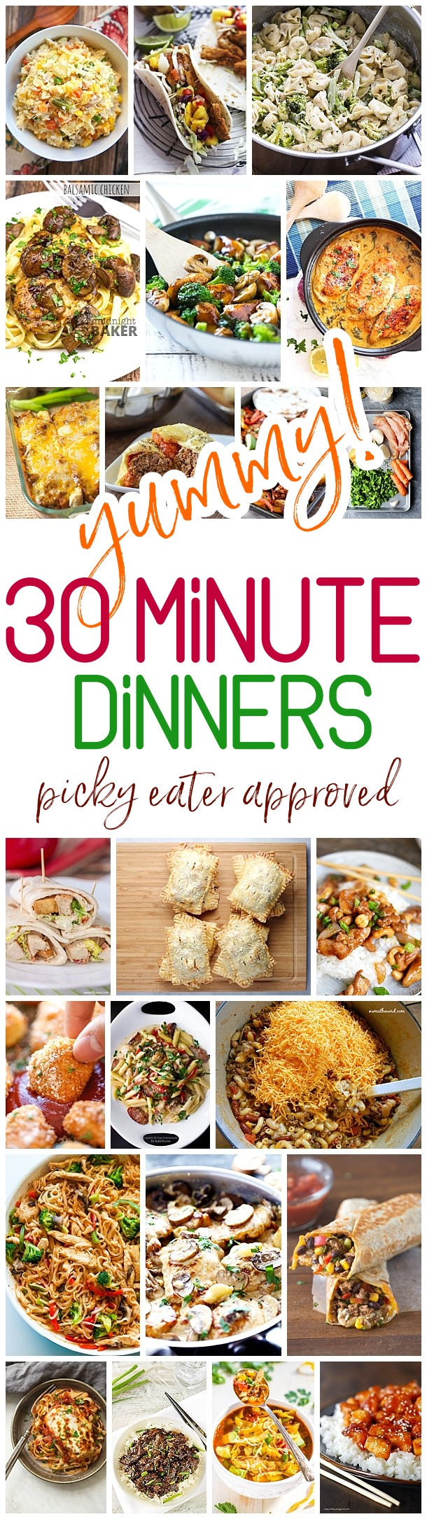 Yummy 30 Minute Family Dinners Recipes - Easy, Quick and Delicious Family Friendly Lunch and Dinner Menu Fast Ideas - Dreaming in DIY