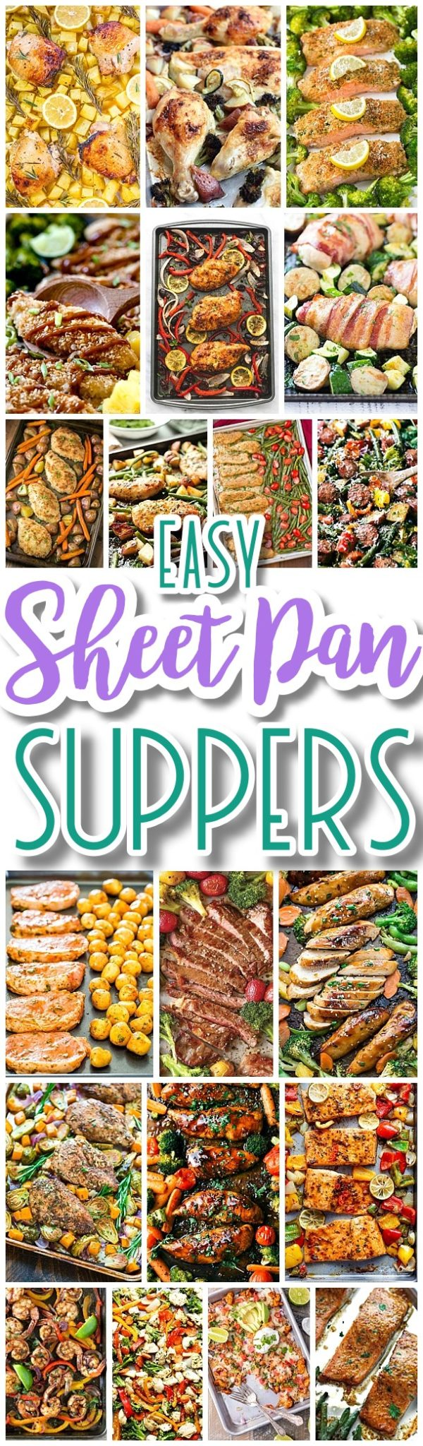The BEST Sheet Pan Suppers Recipes - Easy and Quick Family Lunch and Simple Dinner Meal Ideas using ONE baking PAN - Dreaming in DIY