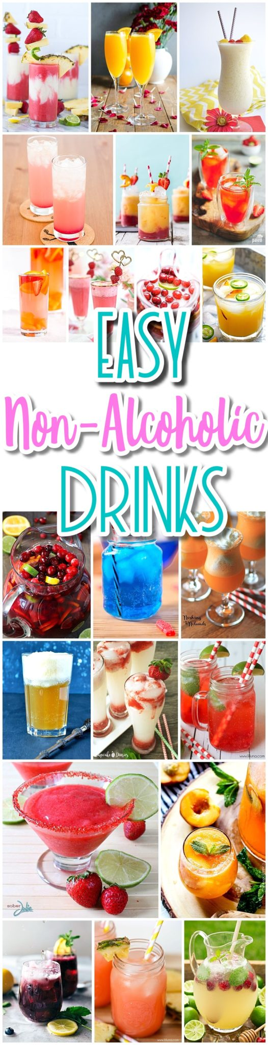 The BEST Easy Non-Alcoholic Drinks Recipes - Creative Mocktails and Family Friendly, Alcohol-Free, Big Batch Party Beverages for a Crowd! - Dreaming in DIY