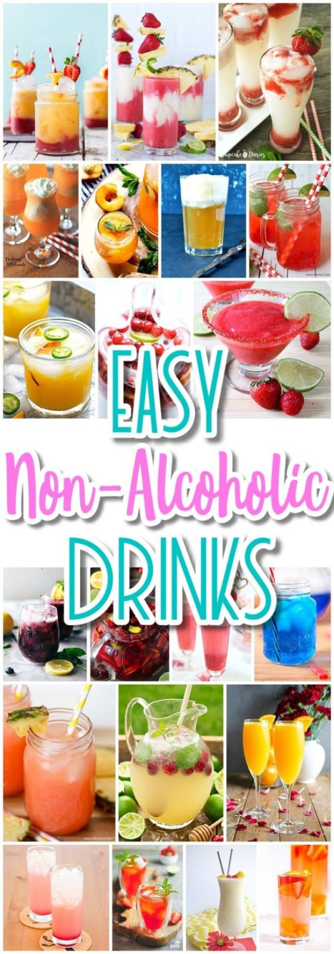 The BEST Easy Non-Alcoholic Drinks Recipes - Creative Mocktails and Family Friendly, Alcohol-Free, Big Batch Party Beverages for a Crowd! - Dreaming in DIY - The BEST Easy DIY Mother's Day Gifts and Treats Ideas - Holiday Craft Activity Projects, Free Printables and Favorite Brunch Desserts Recipes for Moms and Grandmas