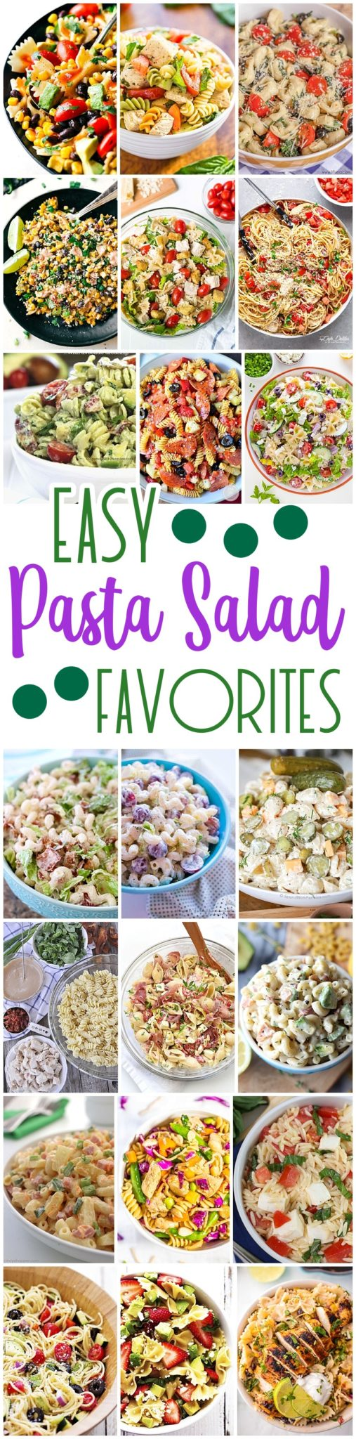 Easy Pasta Salad Recipes - The BEST Yummy Barbecue Side Dishes, Potluck Favorites and Summer Dinner Party Crowd Pleasers- Dreaming in DIY #quickpastasalads #easypastasalads #pastasalad #baconpeapastasalad #bacon #pasta #potluck #barbecue #BBQ #partyfood #tailgating