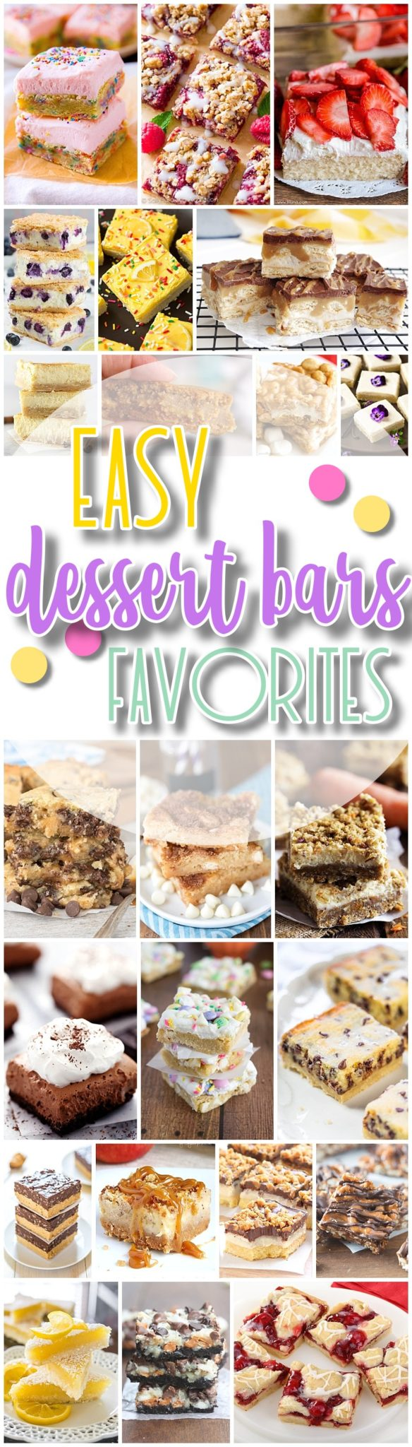 The Best Easy Desserts Bars Recipes - Favorite New Plus Classic Simple Bar Cookies and Quick Big Batch Party Treats Bars for a Crowd - Dreaming in DIY