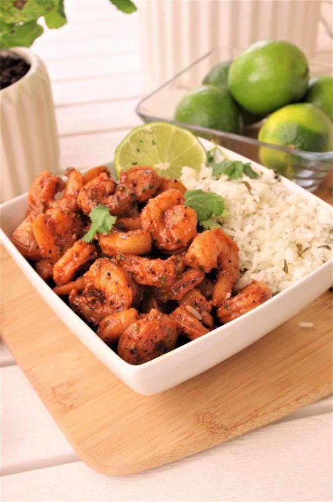 Baked Cajun Shrimp Entree Recipe 15 Minute Easy Sheet Pan Dinner #sheetpansuppers #bakedshrimp #cajunshrimp #bakedcajunshrimp #easylunches #easydinners #shrimprecipes #shrimp