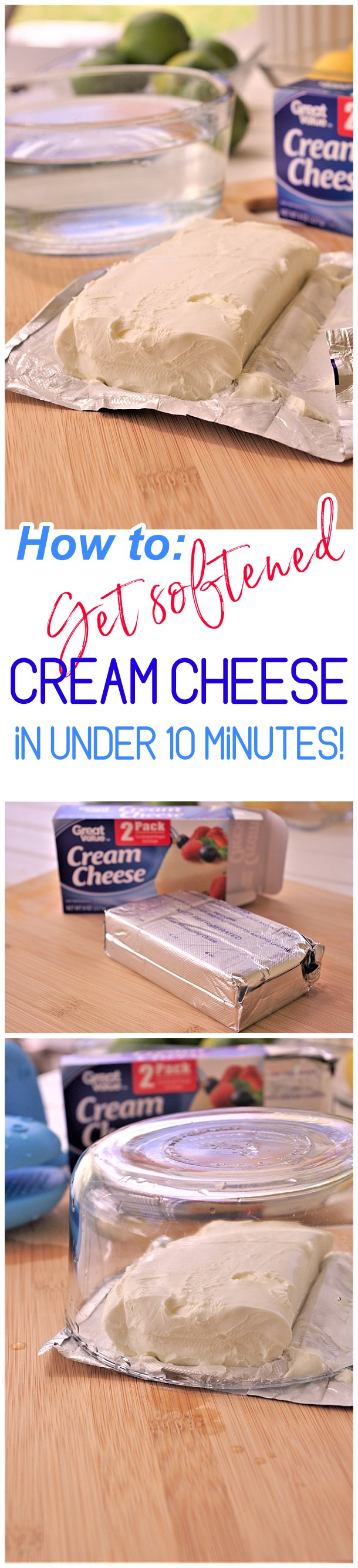 Clever Baking Hack - How to Get Softened Cream Cheese Not Melted in Under 10 Minutes EASY - Dreaming in DIY