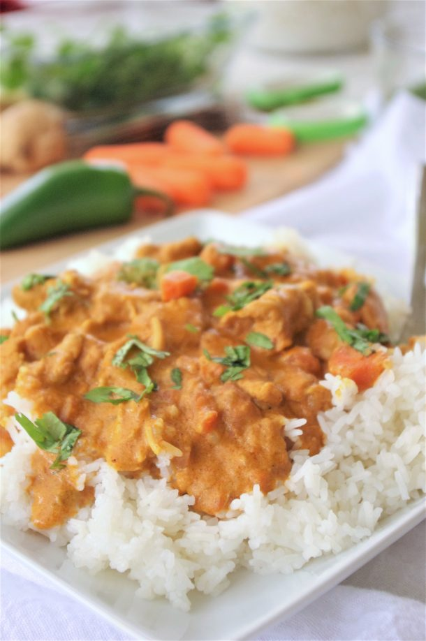 The BEST Easy Coconut Curry Crockpot Chicken Family Dinner Recipe - Yummy Slow Cooker Meal by Dreaming in DIY