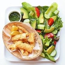 Salt and Pepper Calamari with Green Aioli