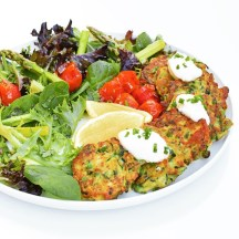 Zucchini and Haloumi Fritters