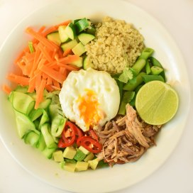"pulled pork ""bibimbap"""